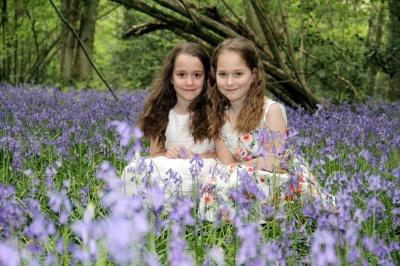 Children in the Bluebell woods