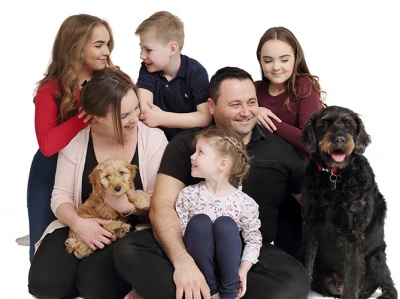 Studio Family portrait