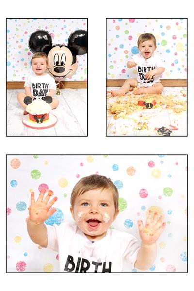Newborn, cake smash and family photo