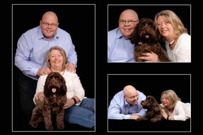 Portrait with our pet dog
